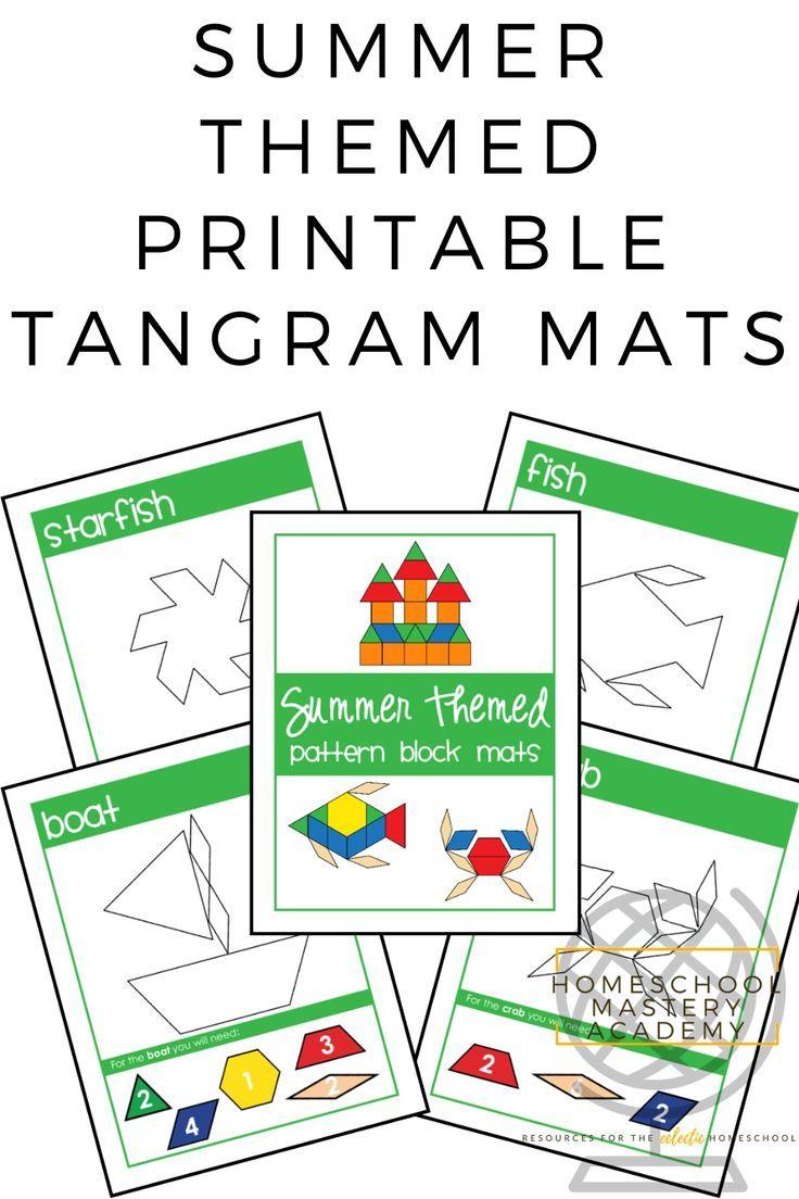 Make Unique Tangram Patterns On Vibrant Printable Block Mats Tangram Patterns Tangram Homeschool Lesson [ 1104 x 736 Pixel ]