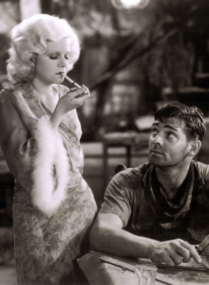 """Jean Harlow and Clark Gable in """"Red Dust"""""""