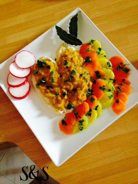 Petto di pollo con salsa di zucchine