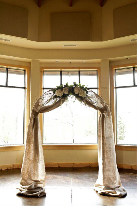 wedding arch w/ burlap