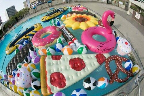 so many pool floaties!!! O0O
