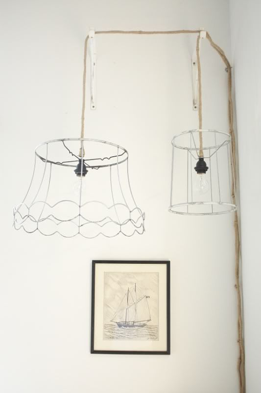 Ghost Lamps - Life in the Fun Lane   Not a tutorial just inspiration to strip an old lampshade