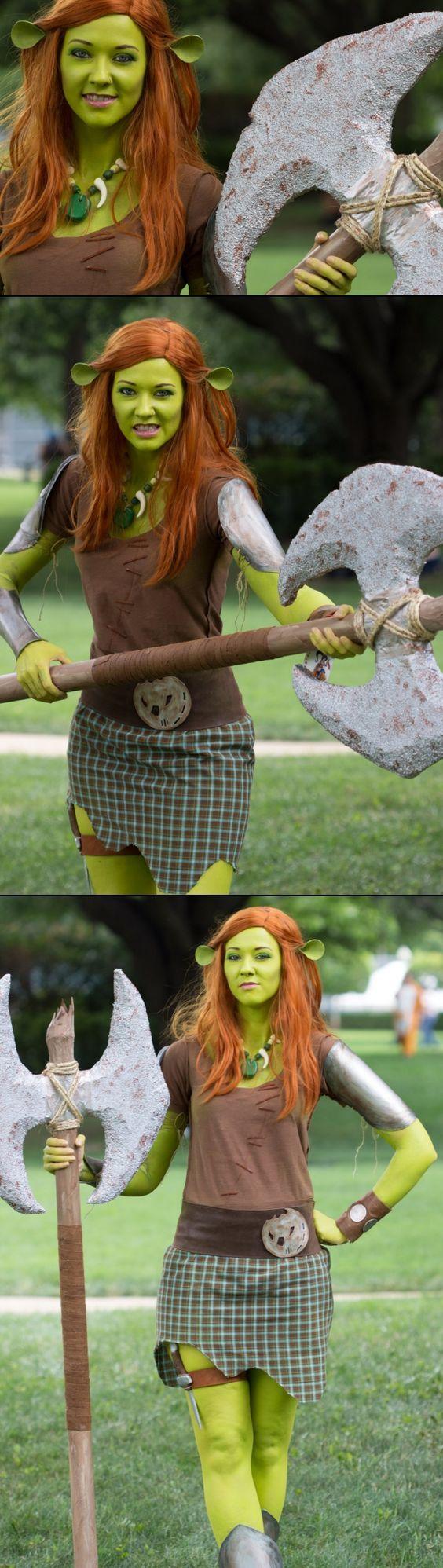 DIY Shrek Princess Fiona Halloween Costume Idea