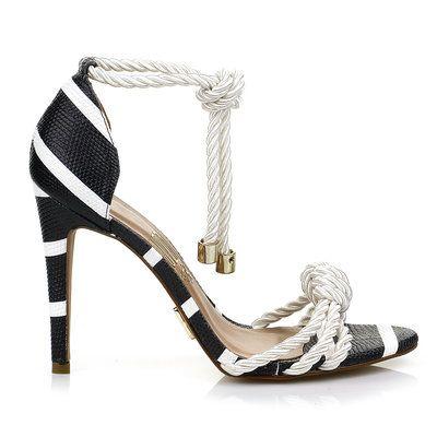 Sandália salto alto cord olv offwhit