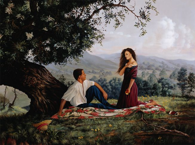 Realist-painting-summer romance