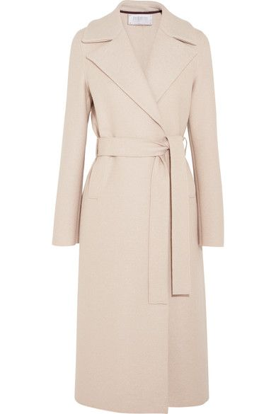Harris Wharf London | Belted wool-felt coat | NET-A-PORTER.COM