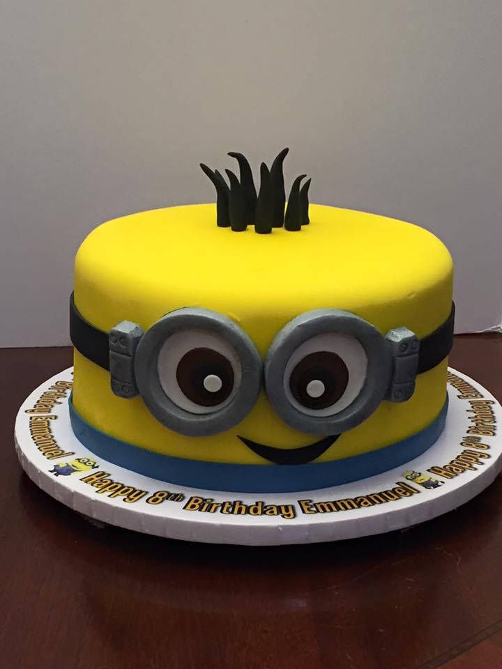 https://flic.kr/p/BwjJq7 | minion single tier birthday cake