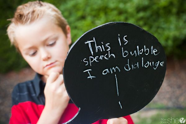 A fun light hearted idea that can get your kids expressing and laughing about all those internal emotions without having to respond to direct questions.. by Cristi from [How Does She?]. Pinned by SOS Inc. Resources @sostherapy.Chalkboards Speech, Chalkboards Thoughts