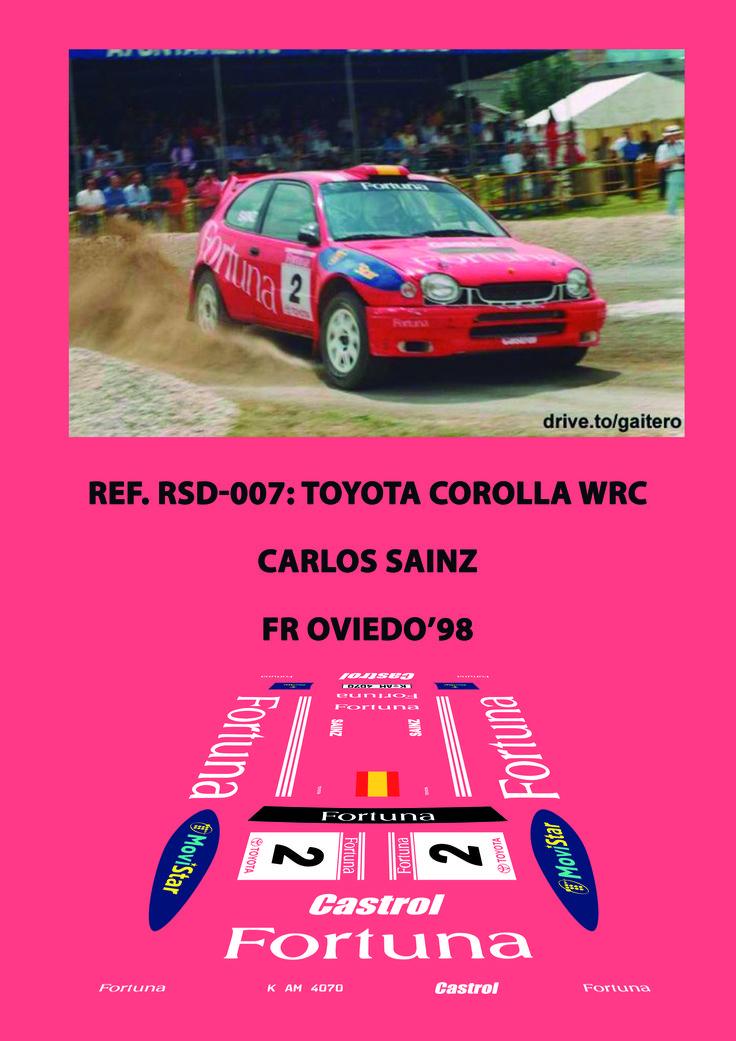 Ref. RSD-007 - Toyota Corolla WRC Carlos Sainz - FR Oviedo'98
