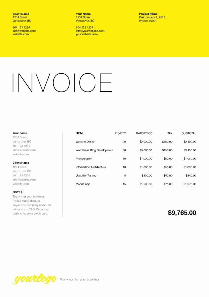 Website Design Invoice Template Awesome 76 Best Web Design Quotation Images On Pinterest Invoice Template Invoice Design Web Design