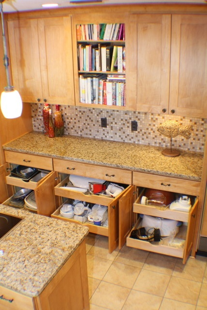Contemporary Kitchen Remodel - rollout drawers