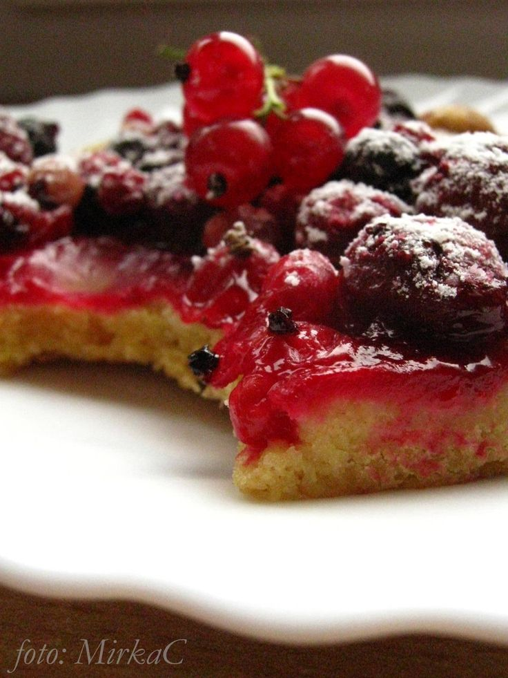 cake currants and cherries/ placek porzeczki i wiśnie