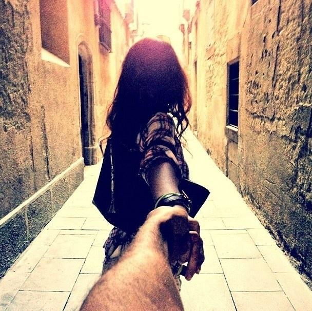 Girlfriends Holding Hands
