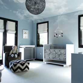 Love The Idea Of Clouds On The Ceiling. A Place To Dream   Kids Bedroom    Contemporary   Nursery   Los Angeles   Amy Sklar Design Inc
