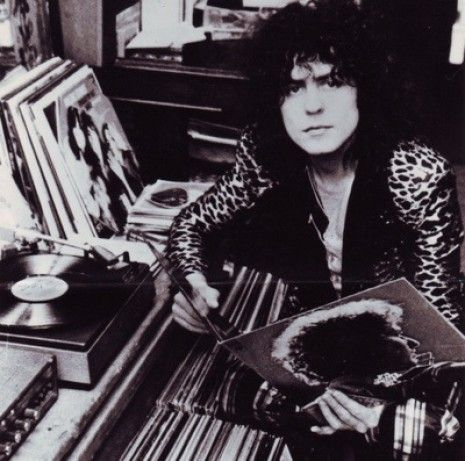 Marc Bolan, Dangerous Minds | Famous people hanging out with their vinyl