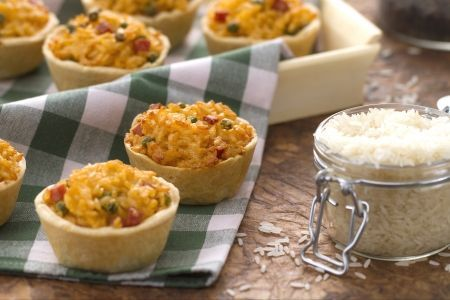 Budini di riso salati