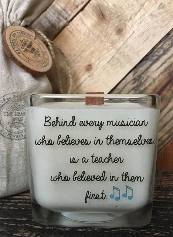 Music Candle  Music Teacher Gift Music Teacher Candle