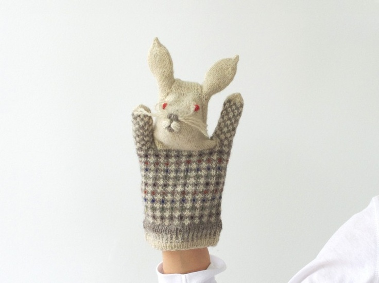 Puppet Gloves Knitting Pattern : puppet_rabbit -via Nami ~ knitted glove puppets. Adorable... Knitting_Toys ...