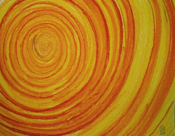 Orange Sun | Soleil Orange 11x14 | 27.9 x 35.5 environ  Papier Canson sans acide  Canson Paper acid free  98Lb | 160g