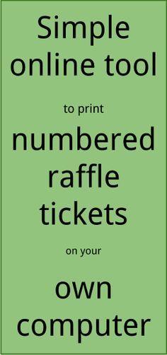 online raffle ticket sales