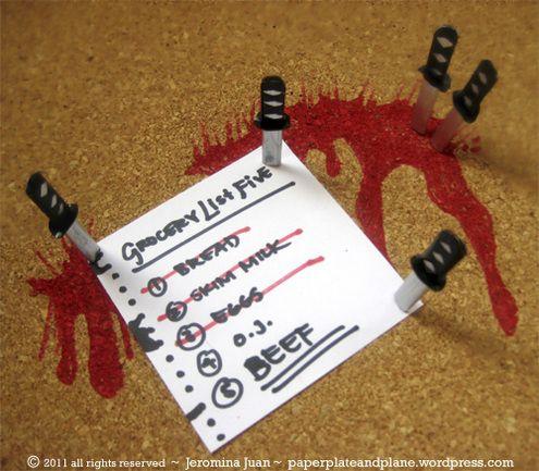 How To: Make Samurai Sword Push Pins!
