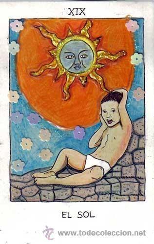 TAROT DE ALMA AJO, 22 ARCANOS MAYORES, 2ª BARAJA coloreada a mano, EDICION DEL 2010