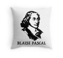 $16.68-$33.37 Throw Pillow Blaise Pascal, #Blaise #Pascal, #French #mathematician, physicist, #inventor, #writer and Catholic theologian, Pascal's #calculators, #Pascalines