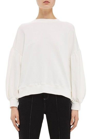 Free shipping and returns on Topshop Boutique Balloon Sleeve Sweatshirt at Nordstrom.com. Wear your femininity proudly, even in the most laid-back staple: this classic crewneck cotton sweatshirt reinvented with billowy, Victorian-inspired sleeves.