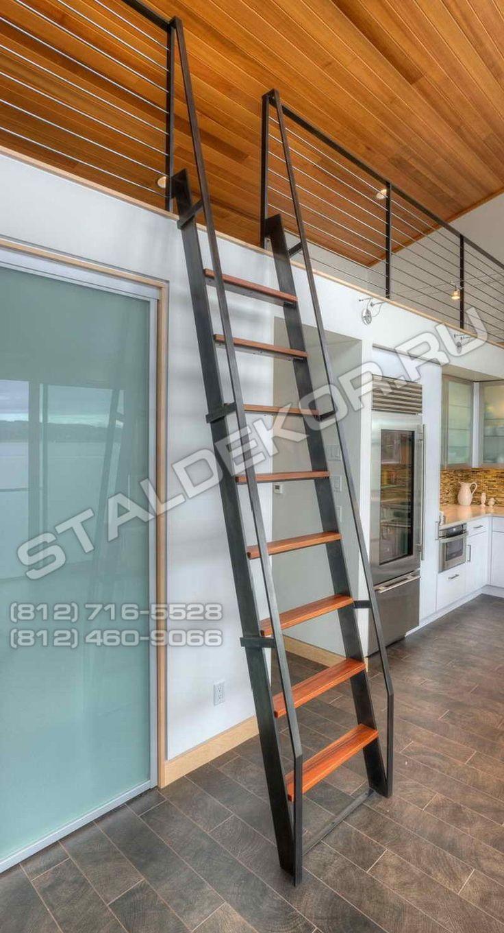 Металлические лестницы для дачи, дома, коттеджа - производство и установка недорого в СПб.
