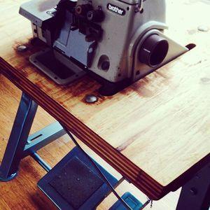 Brother over locker sewing machine for sale blue frame, great buy find more at www.mimisdaughters.com #sewing #overlocker #home #design #create #interiordesign #material #softfurnishings #sew #spraypaint #furniture #refurbishedfurniture