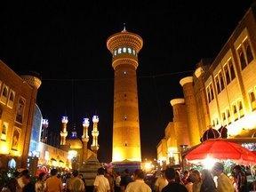Grand Baazar at night- Urumqi, China