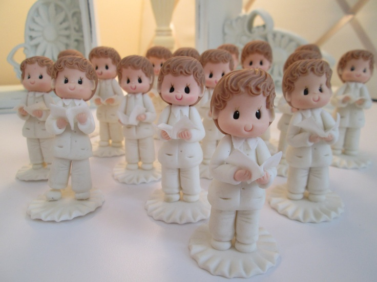 First Holy munion Favors Cold Porcelain Boy Statues
