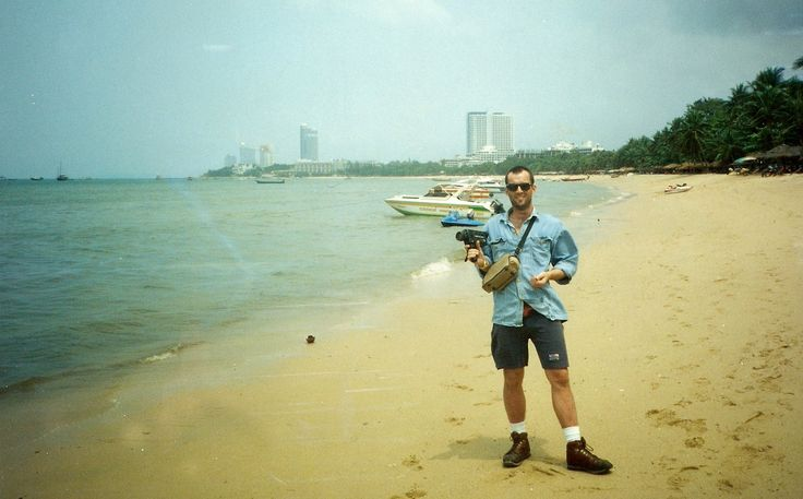 Pete in Pattaya, Thailand. I was looking out in Laem Chabang and there he was on the quayside. Saluting and attracting the attention of a security detail. He's got a Super-8 movie camera in his hand so we could film a meetup of the Hackney High-rise Possie (I just made that name up). We lived in tower block estates in East London, during the 80s and early 90s. The artist Rachel Whiteread is famous for photographing them, but the real performance art was living there.