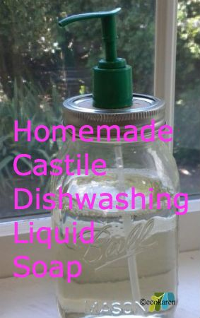 homemade castile dishwashing soap by ecokaren