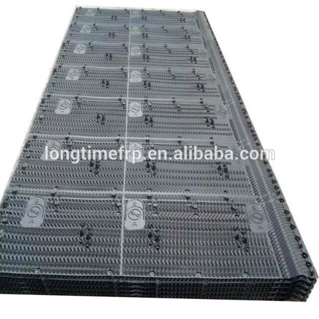 Cooling Tower Fill For Condenser, 1300*2520mm Gray Virgin PVC Cooling Tower Infill Packs