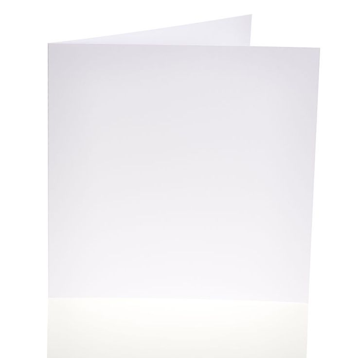White Smooth Blank Cards and Envelopes 8 x 8 Inches 25 Pack