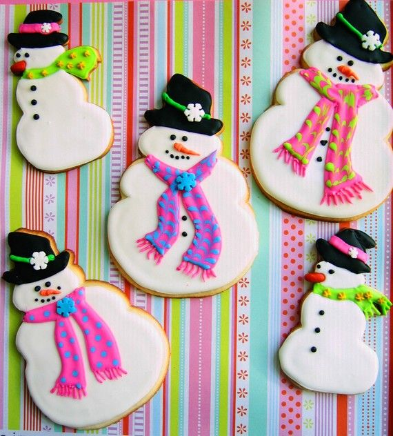 Christmas Snowman Xmas Cookies  6 Medium and 6 Large on Etsy, $42.00