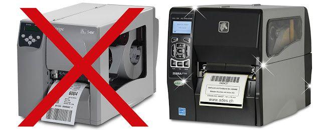 BESSERDRUCKEN: Der bewährte ZEBRA S4M Etikettendrucker ist abgekü...