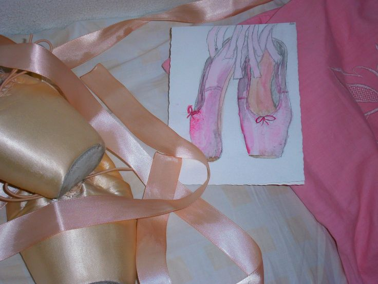 Hand painted gift card for a sweet sixteen year old who loves ballet. Watercolor on Block
