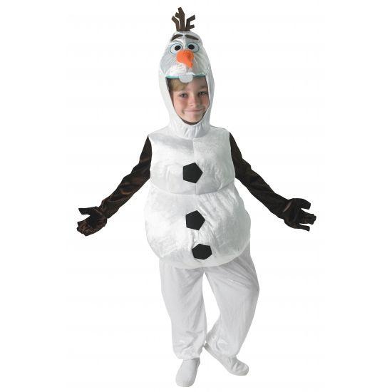 Olaf Frozen sneeuwpop kostuum voor kinderen. Een leuk kids kostuum van Olaf uit de bekende Disney film Frozen.