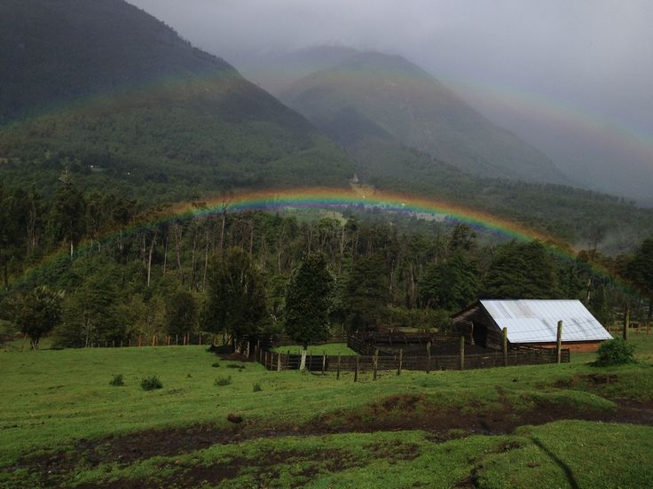 Double rainbow! Puelo Valley, Lake District, Chile www.secretpatagonia.com