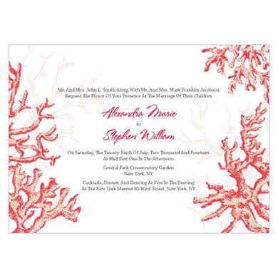 Reef Coral Invitation