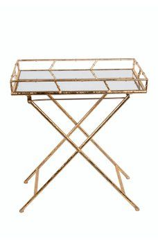 Privilege - Gold Rectangular Tray Table