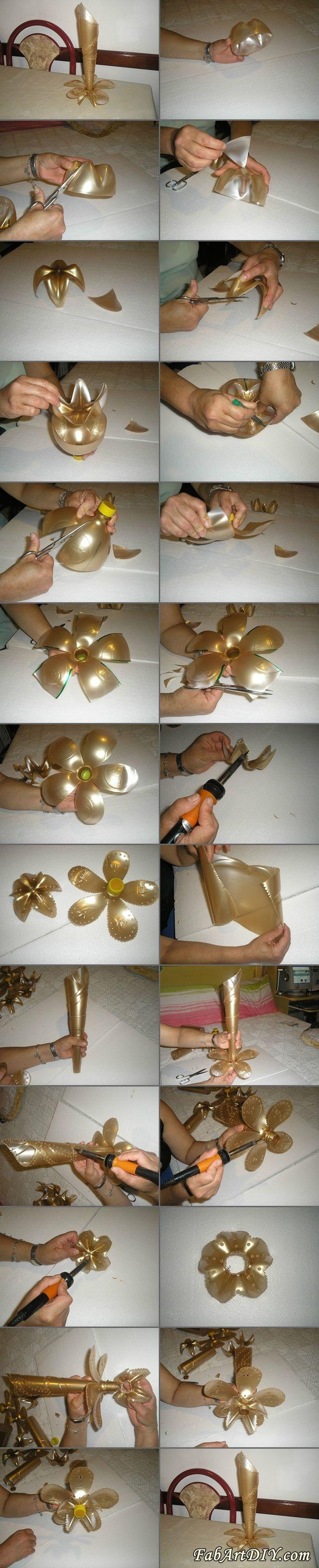 Stojánek z PETky DIY Delicate Vase From Plastic Bottle | www.FabArtDIY.com LIKE Us on Facebook ==> https://www.facebook.com/FabArtDIY