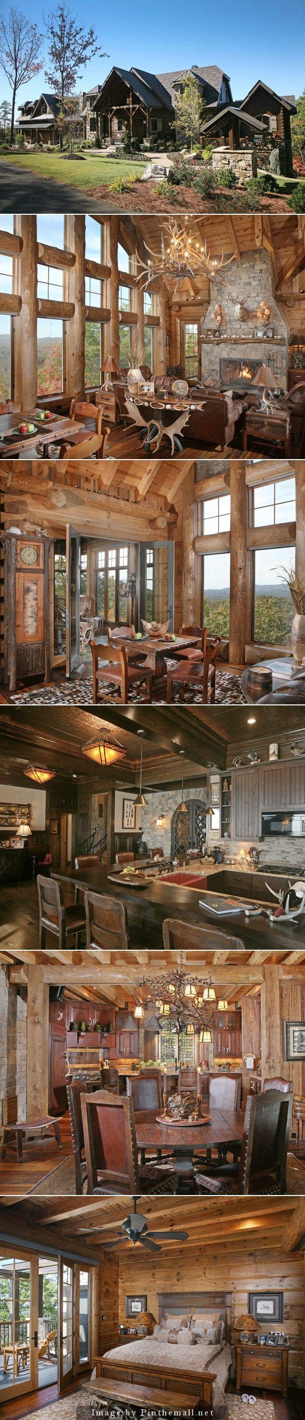 Log Home Beauty - created via http://pinthemall.net: