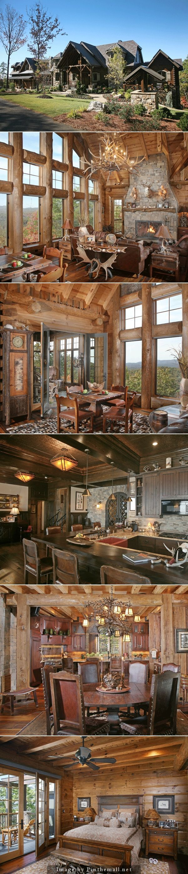 Log Home Beauty - created via http://pinthemall.net: