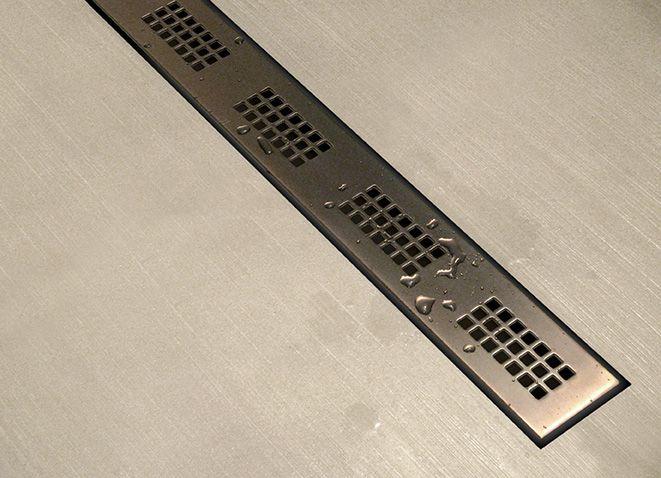 Linear Shower Drain by Watermark Designs