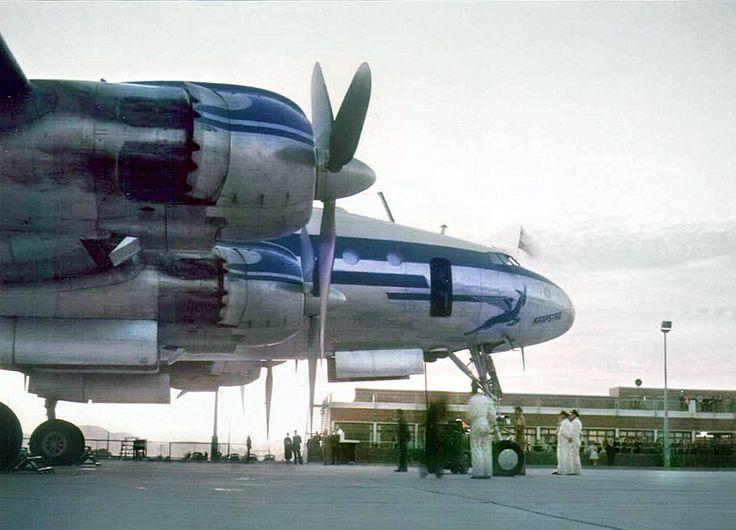 SAA Constellation DF Malan Airport 1955