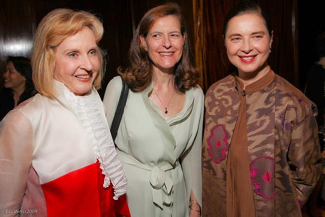 Ingrid Bergmans' daughters: Pia Lindstrom, Dr. Ingrid Rossellini, PhD. and Isabella Rossellini