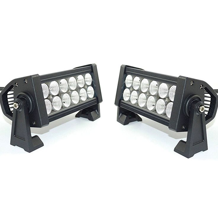 6 7 inch Flood LED Bright White Vehicle Light Bar for Truck bus Fire Fighters